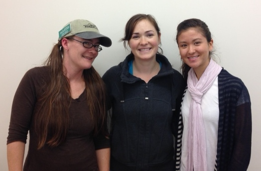ESC Staff members Kasey Dolin, Tara Luckie, and Christine Froschl